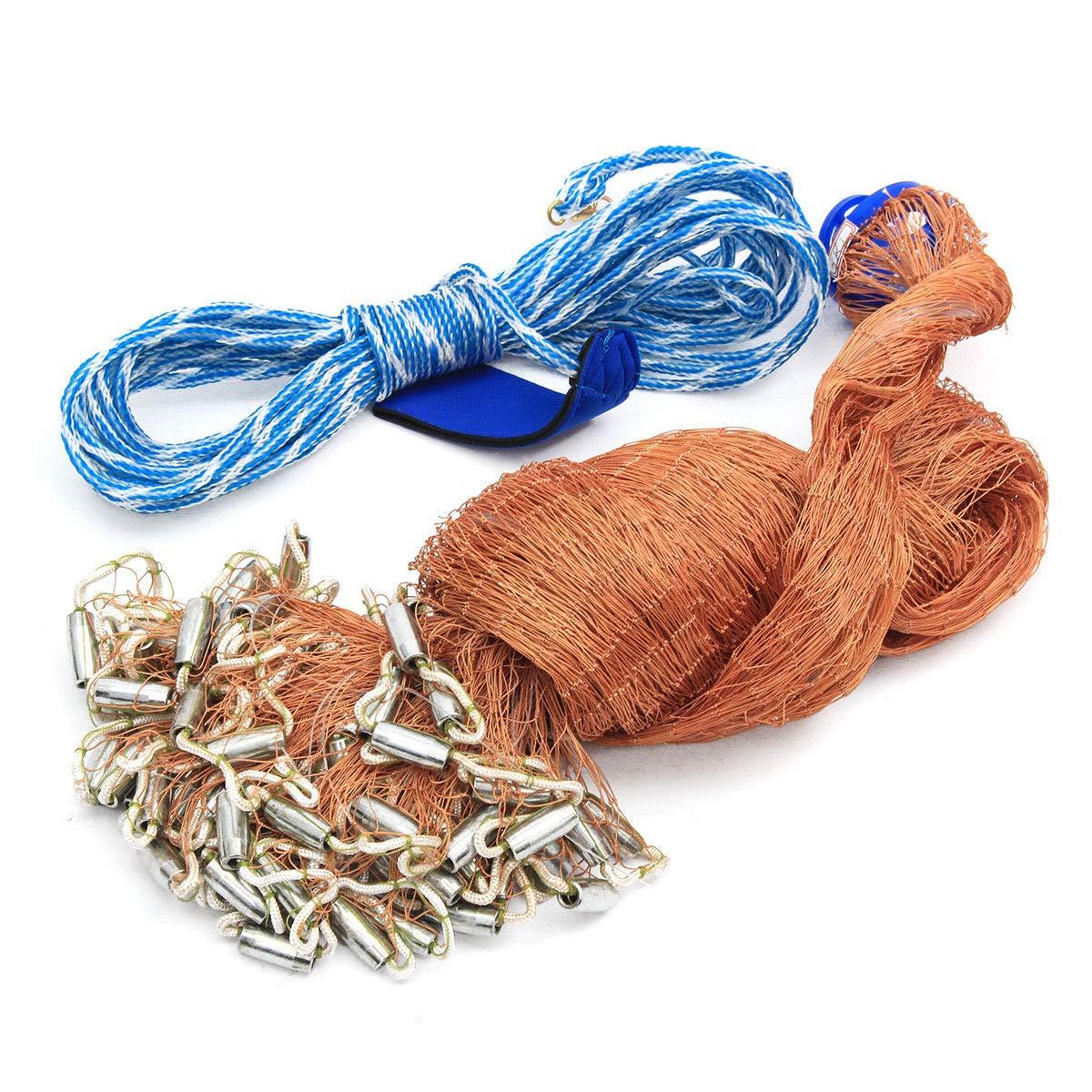 Durable Fishing Net Easy Throw Bait Hand Casting Strong Nylon Line W// Sinker