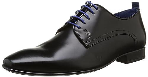 Nabou - Zapatos con Cordones Hombre, Marrón (Marron (Châtaigne)), 43 Azzaro