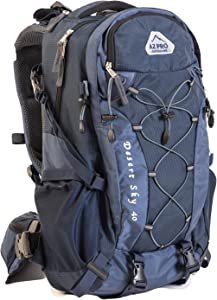 Desert Sky from AZ Pro Outdoors 3-Way Backpack Series 40L Easily Converts to the Most Versatile Backpack Hiking Day Pack, Attractive Travel/Laptop Computer Bag and Single-Hydration Waist Belt/Hip Bag