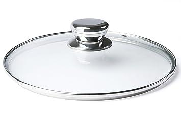 ETHDA Tapa de cristal templado para cocina/sartén/olla/calderas de ...