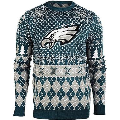 001239a3 Amazon.com: Men's Philadelphia Eagles Holiday Ugly Sweater (Small ...