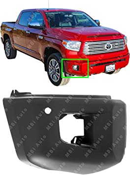 NEW Painted To Match RIGHT Front Bumper End for 2014-2019 Toyota Tundra w// Park