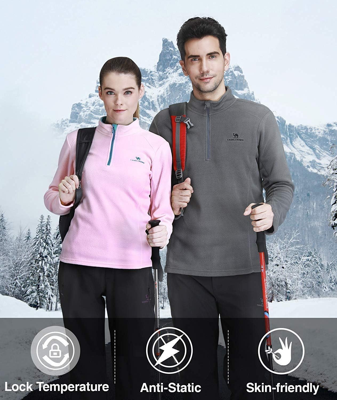 CAMEL CROWN Giacca in Pile Polare per Donna con Zip 1//4 Felpa per Donna Giacca Softshell Antivento per attivit/à Sportive Escursionismo Allaperto