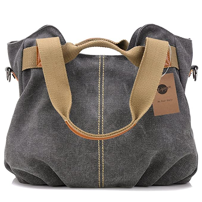 cf36b64b11 Z-joyee Women's Ladies Casual Vintage Hobo Canvas Daily Purse Top Handle  Shoulder Tote Shopper Handbag: Amazon.in: Clothing & Accessories