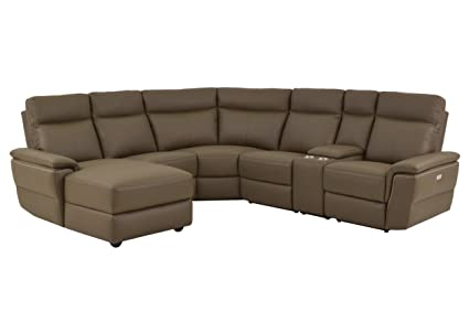 Amazoncom Homelegance Olympia 6 Piece Power Reclining Sectional