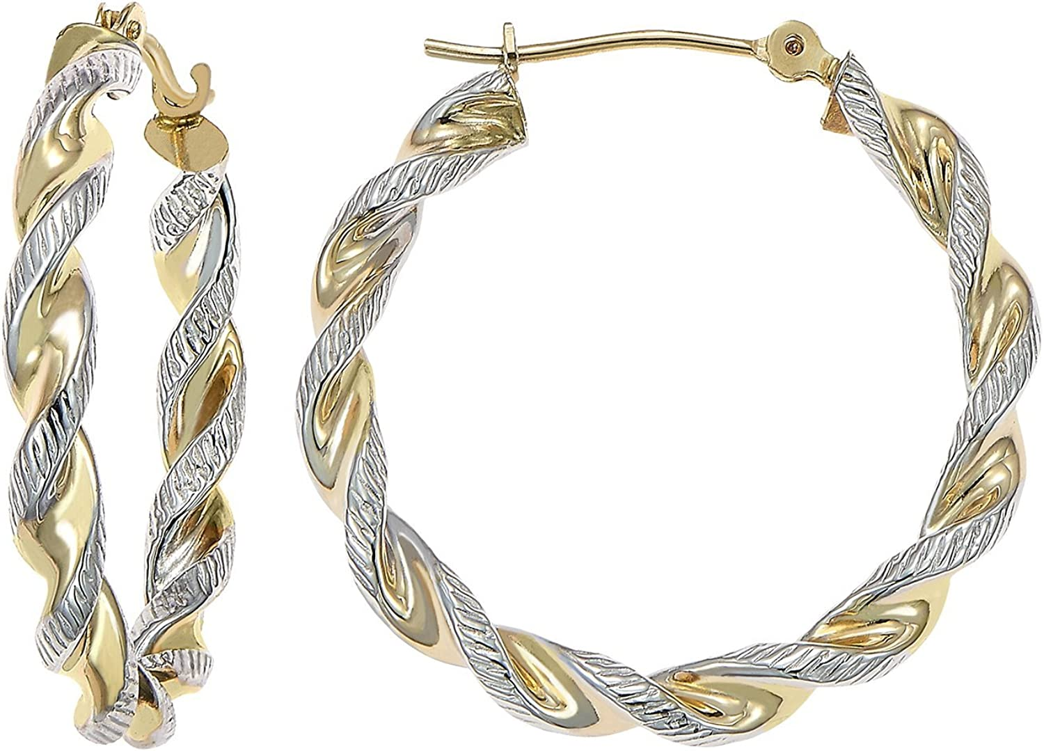 14k Gold Two-Tone Twisted...