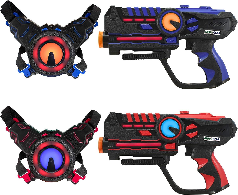 Darpeje Batalla (Laser Battle) Set 2 Jugadores Azul | Rojo de Toys & Fun-Sycomore Faujas (ODAR77), Multicolor (1)