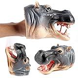 Livoty Dinosaur Hand Puppets Soft Rubber
