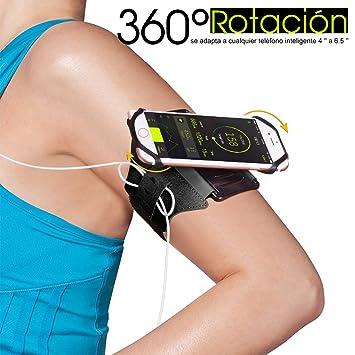Stillcool Brazalete Deportivo para Moviles 360° rotación Adecuado para iPhone X/6 Plus/