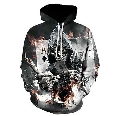 6c8386f75e51 Amazon.com  Skull Hoodie