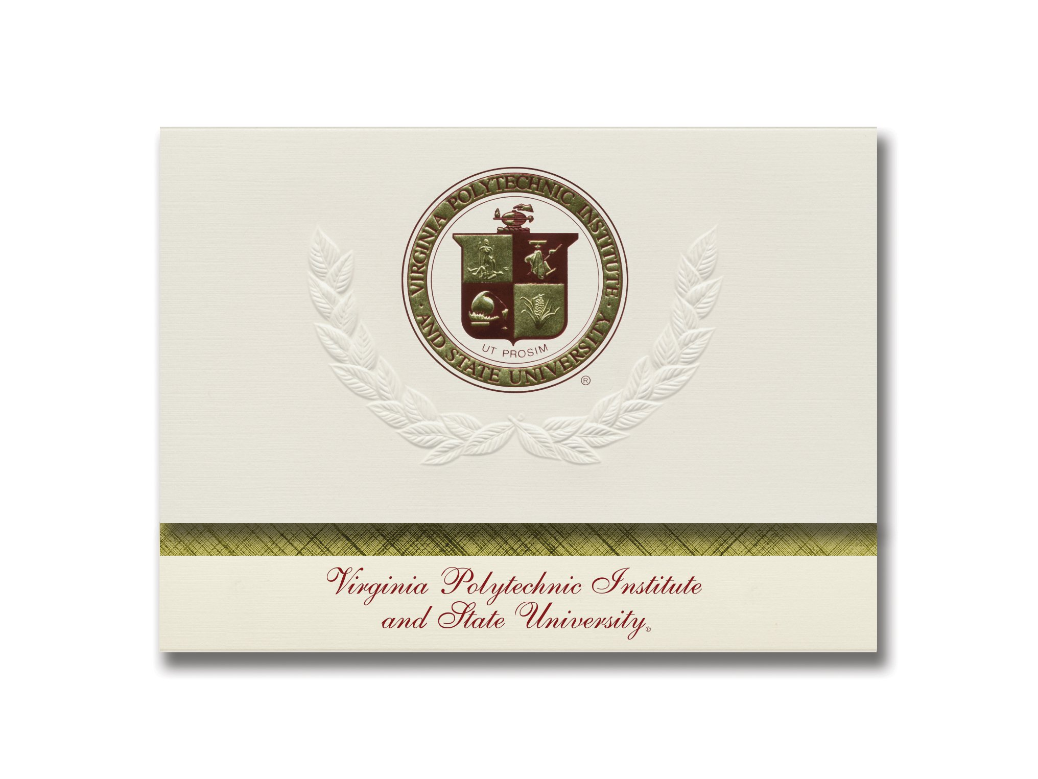 Signature Announcements Virginia Polytechnic Institute and State University Graduation Announcements, Platinum style, Elite Pack 20 with Virginia Tech Seal Foil