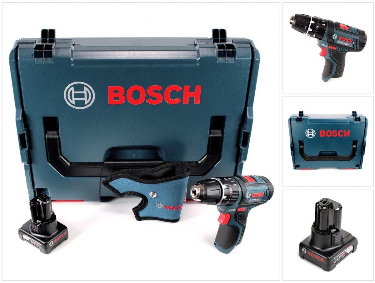 Bosch GSB 12V–15Professional Perceuses-visseuses à percussion sans fil dans L-Boxx + 1x batterie GBA 12V 4Ah