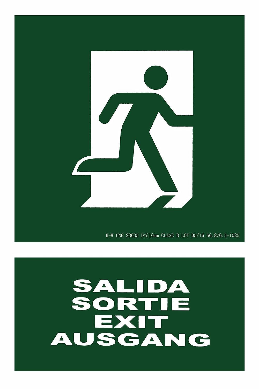 CIEFU-Cartel de Salida Sortie Exit Ausgang Señalizacion ...