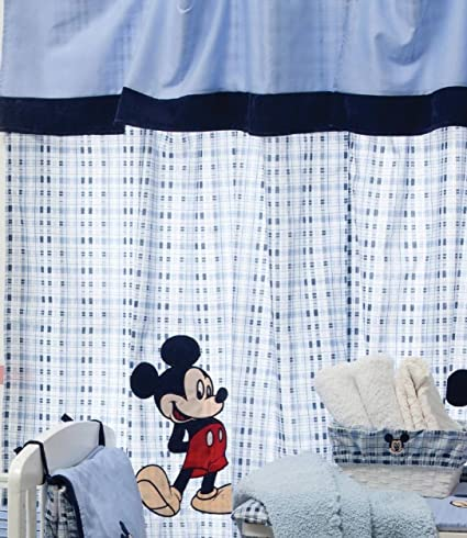 Bebe Bedding Design Blue Mickey Mouse 2 Curtains