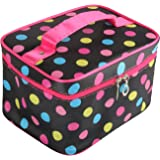 Discoball Lady Women Cosmetic Makeup Toiletry Travel Wash Bag Holder Mirror Case Organizer