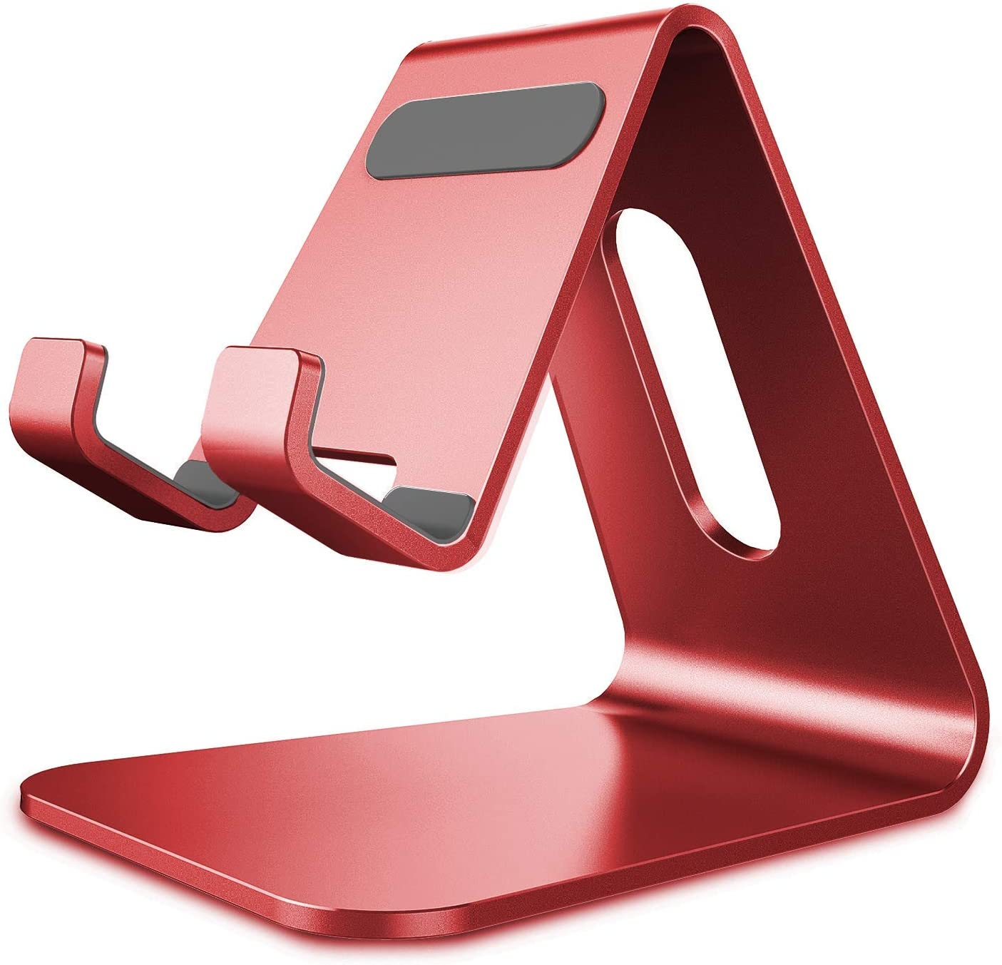 CreaDream Cell Phone Stand, Cradle, Holder,Aluminum Desktop Stand Compatible with Switch, All Smart Phone, iPhone 11 Pro Xs Max Xr X Se 8 7 6 6s Plus SE 5 5s (Red)