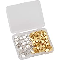 F Fityle 160pcs Mini Star Charms Zinc Alloy Star Shape Charms Pendants for DIY Crafting Jewelry Making (Gold and Silver…