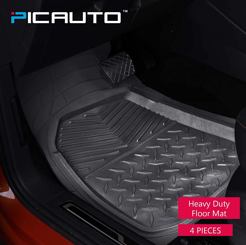 Van /& Trucks SUV 3-piece, black PIC AUTO Universal Rubber Floor Mats for Car