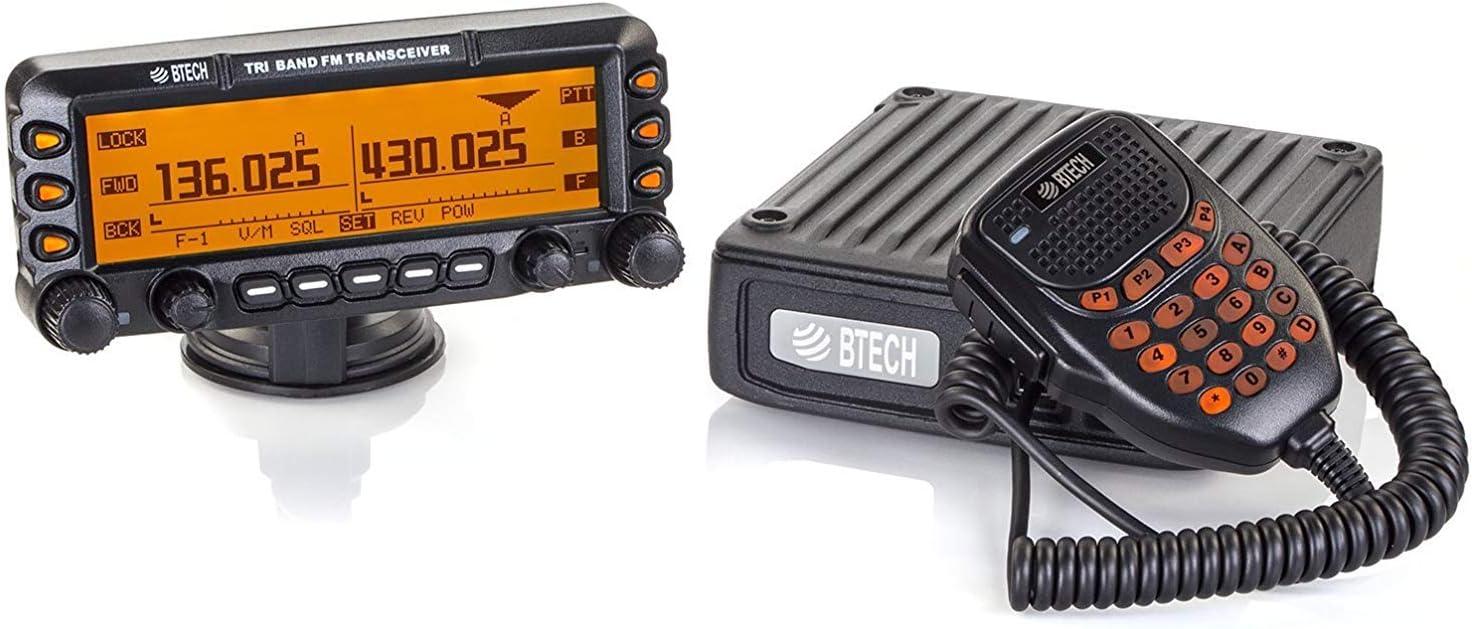 BTECH Mobile UV-50X3 50 Watt Tri-Band Radio 136-174mhz VHF , 222-225mhz 1.25M , 400-520mhz UHF Amateur Ham