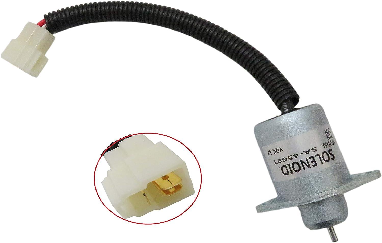 Fuel Shut Off Shutdown Solenoid for Kubota Yanmar Synchro Start SA4569T 12V