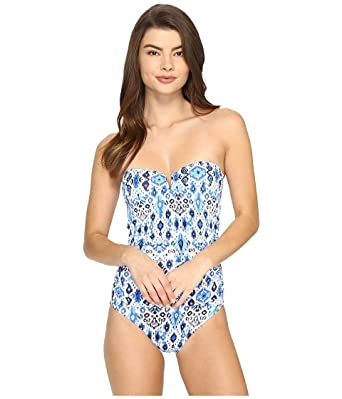 4b8d808bde95b Tommy Bahama Womens Ikat V-Front Bandeau One-Piece at Amazon Women's ...