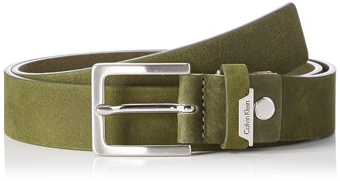 Calvin Klein Jeans Herren Gürtel Basic Adjustable Belt, Grün (Cargo 313), 90 56d19842a2