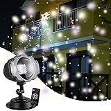 クリスマスライト HJLFA イルミネーションライト プロジェクションライト プロジェクターライト led ライト IP65防水 5-8メートル リモートコントロール 屋外 投影ランプ ロマンチック パーティー ゆきばな 雰囲気作り 新年 ハロウィン 誕生日 スポットライト ステージライト 舞台照明 室内