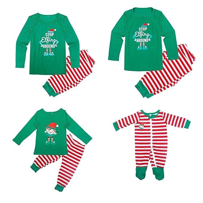 Amazon.com: Pijama de Papá Mamá Bebé Niño Familia a juego ...