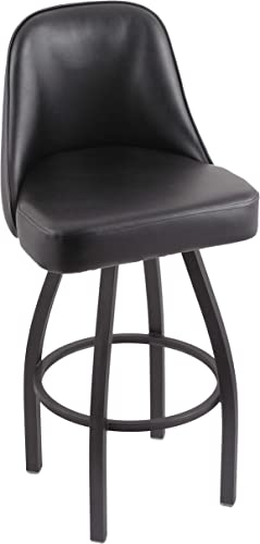 Holland Bar Stool Co. 84030PWBlkVinyl 840 Grizzly Bar Stool, 30 Seat Height, Black Vinyl
