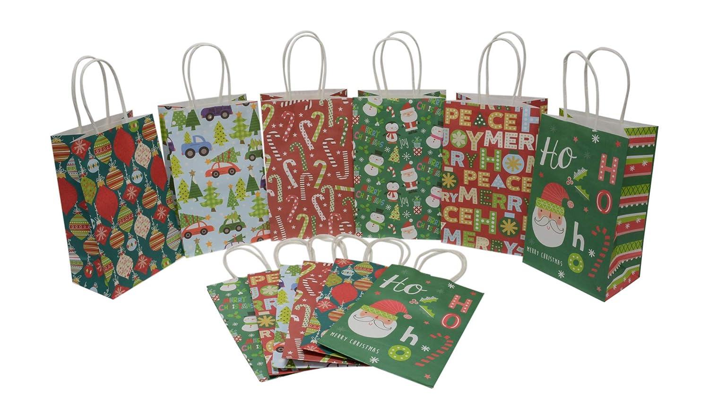Amazon.com: Pequeñas bolsas de regalo de Navidad, papel ...