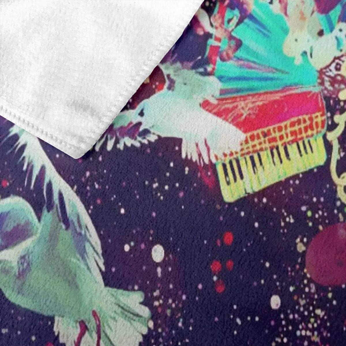 N//A Psichedelico Trippy Space Art Adulto Asciugamano da Mare in Microfibra Grande 32 x 51 Pollici ad Asciugatura Rapida Altamente Assorbente Multiuso Asciugamano da Bagno per Donne e Uomini