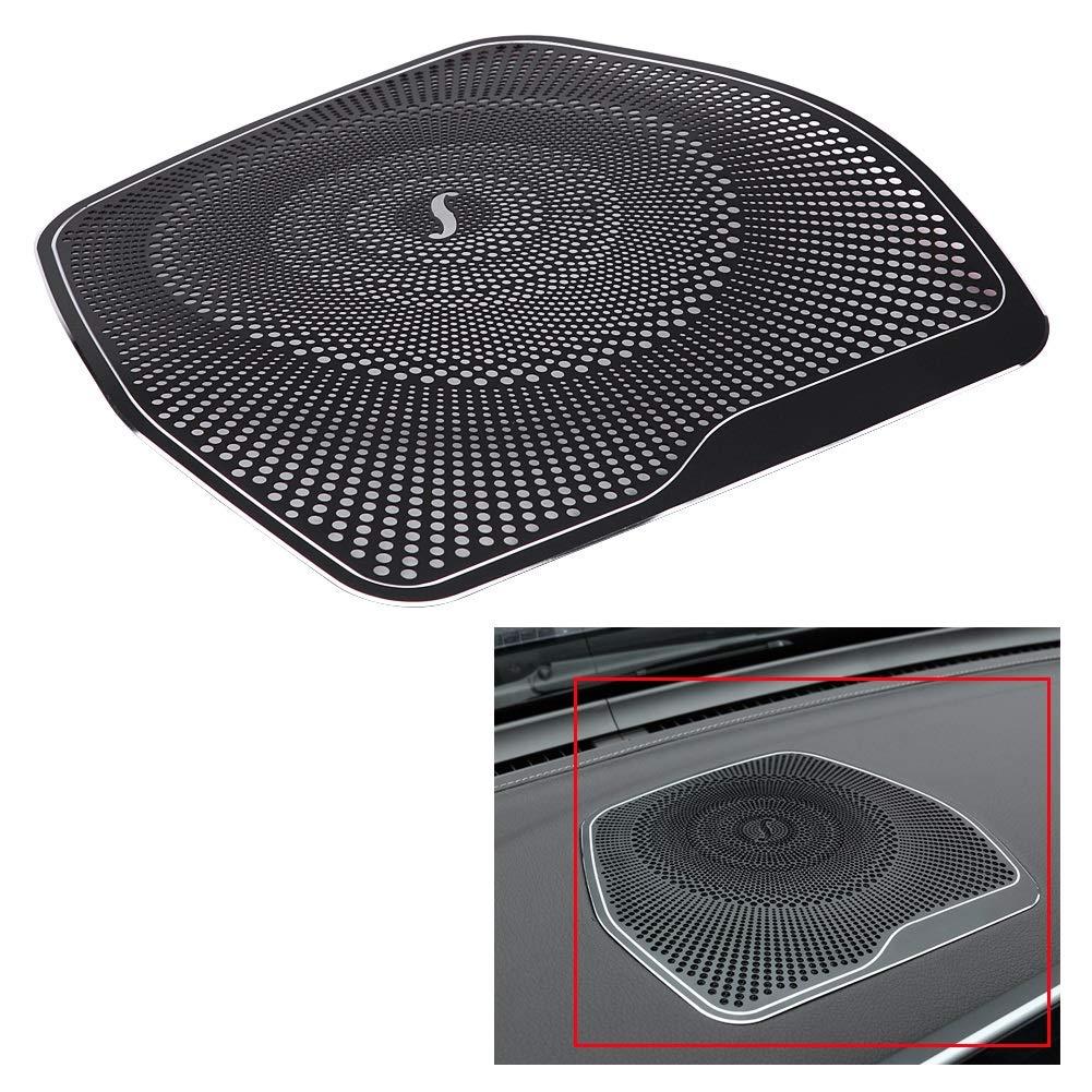 Dibiao Cubierta del ajuste decorativo del marco del altavoz del altavoz de audio del salpicadero del coche negro para Mercedes Clase C W205 C180