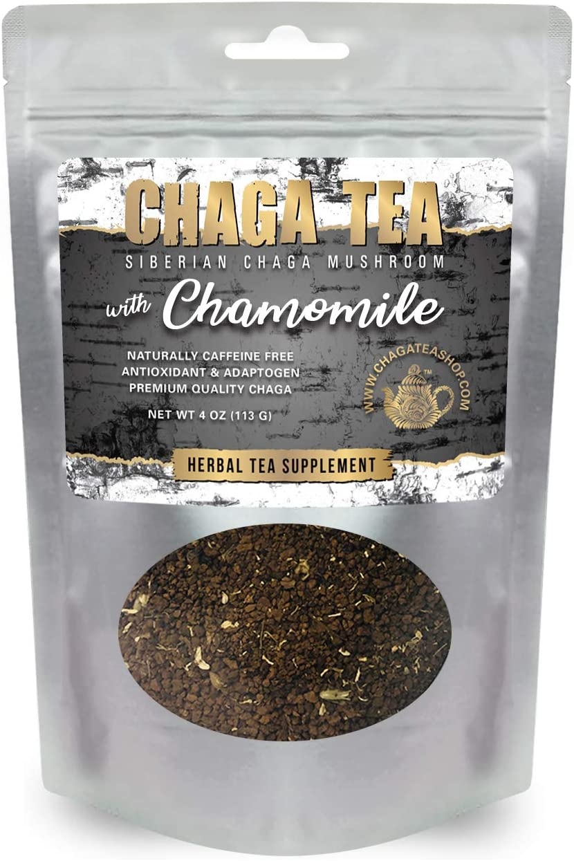 Siberian Chaga Mushroom Loose Tea with Chamomile 4 Oz. 113g.