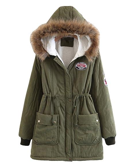 Amazon.com: Mewow - Abrigo de invierno para mujer, cálido y ...
