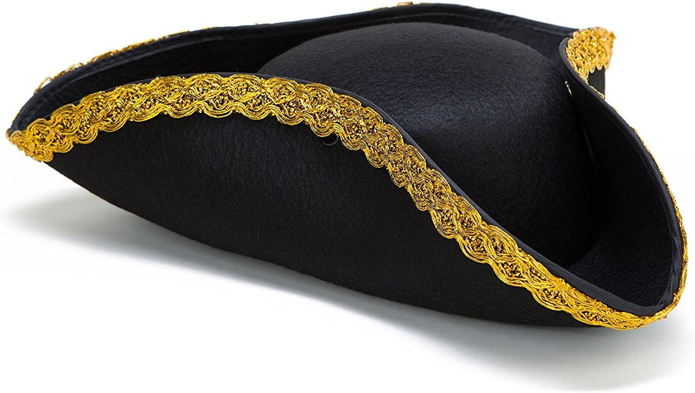Kangaroo Deluxe Colonial Tricorn Hat