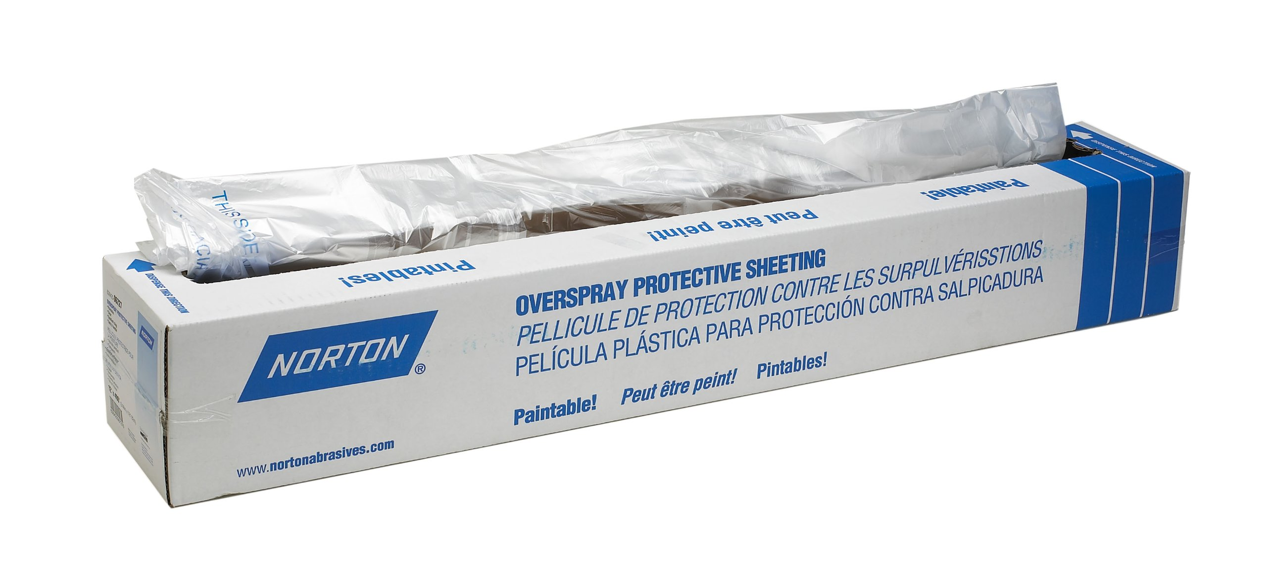 Norton 636425-06728 16' x 400' Overspray Protective Sheeting by Norton