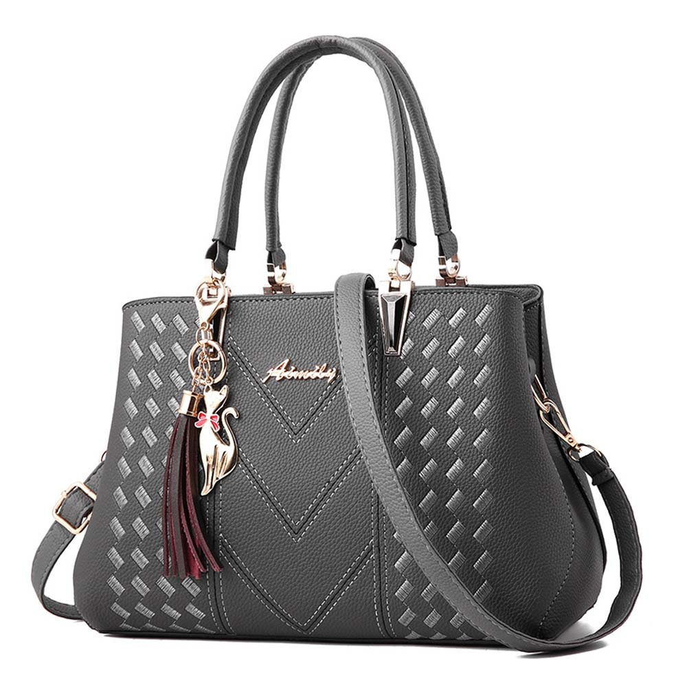 Handbags and Purses Womens Purses Ladies Handbags Fashion Shoulder Bags Satchel Top Handle Tote Girls by VAQM (Grey 1)