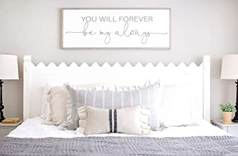 Amazon.com DASON Bedroom Wall Decor Sign for Above Bed You