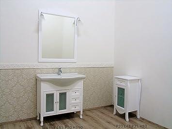 Badmöbel mit Waschbecken 85 cm Landhausstil Shabby Chic mit ...