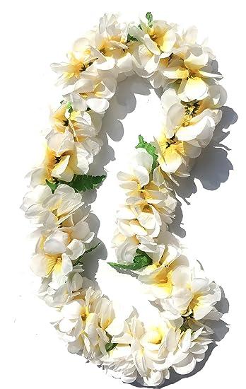 Amazon little feather hawaiian luau white plumeria flower leis little feather hawaiian luau white plumeria flower leis necklaces for party eventchristmas decoration mightylinksfo