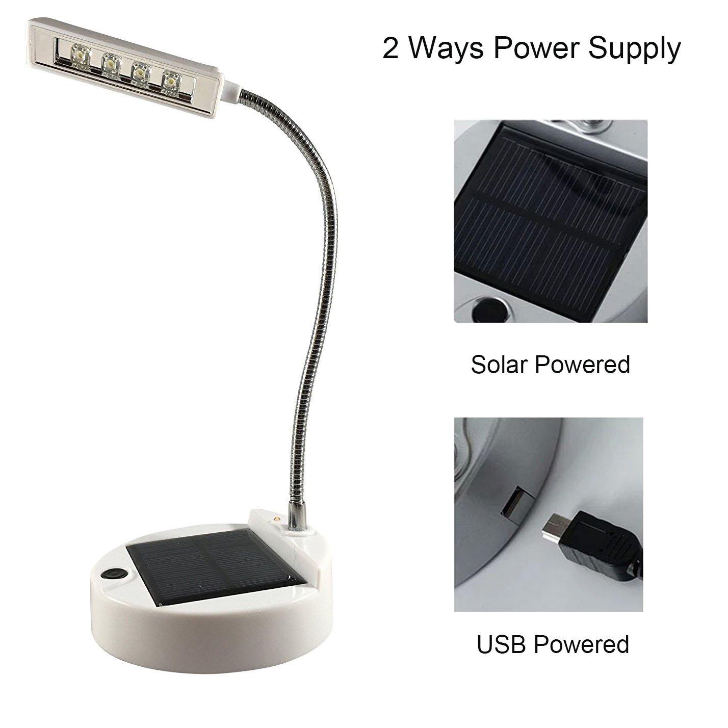 Solar table lamp: ANPRESS Flexible 4 LED