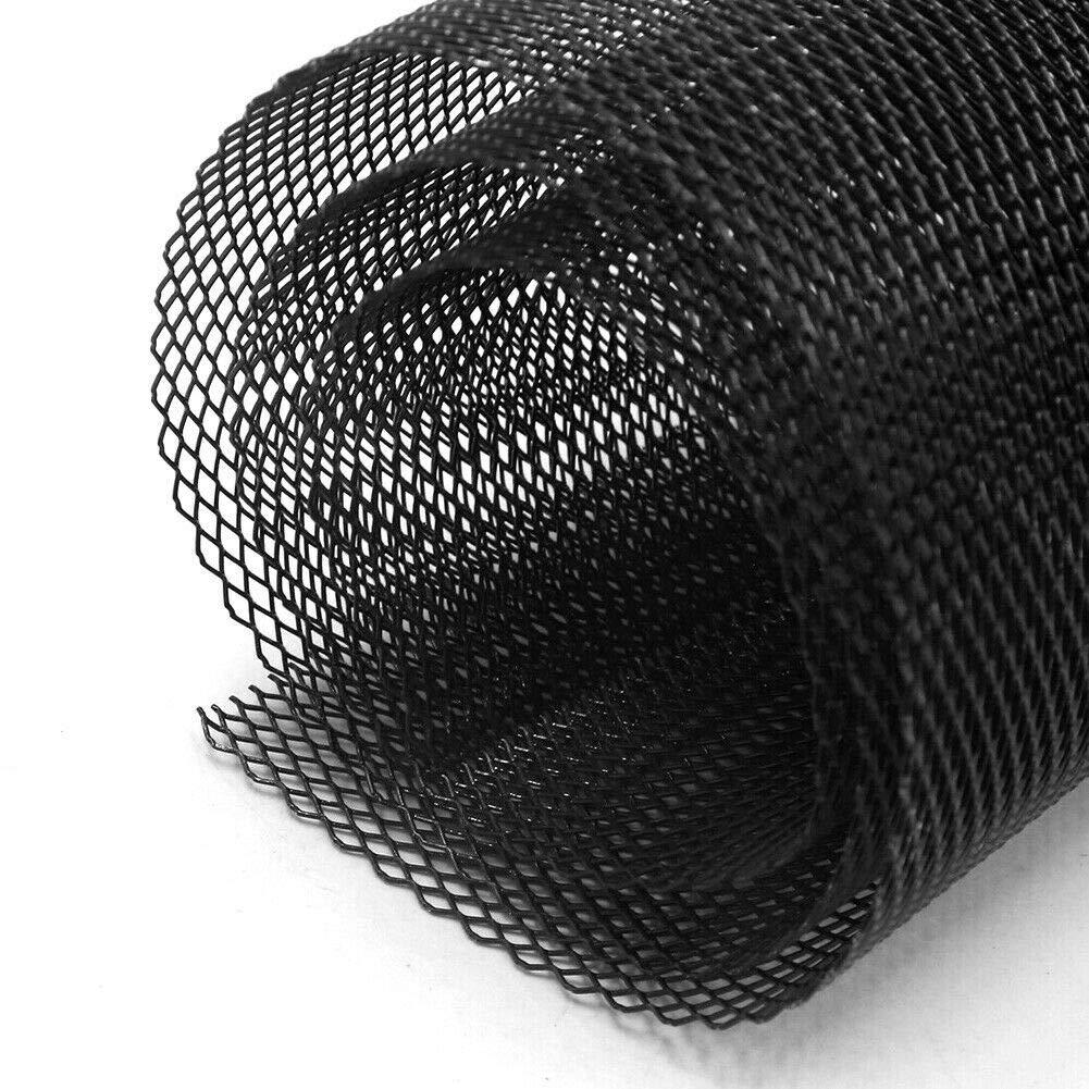 Jarhit Universal 40 Pulgada X 13 Pulgada Rejilla de Malla R/óMbica Hoja Negro Aleaci/óN de Aluminio Veh/íCulo para Autom/óVil