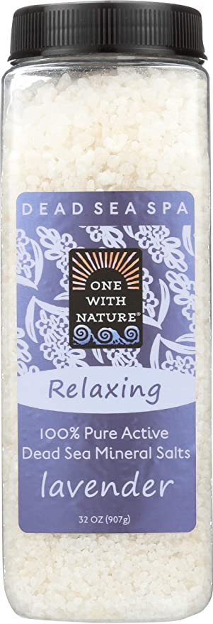 One with Nature Bath Salts, Lavender Tangerine 32 oz (Pack of 2)