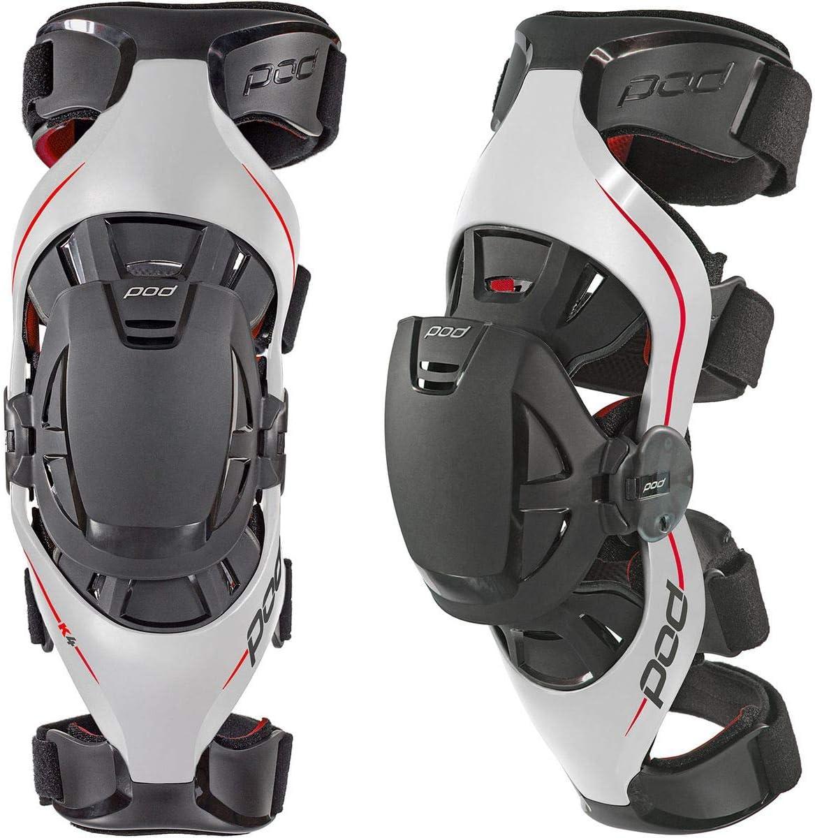 Left POD K4014-595-XL//2X Unisex-Adult K4 Knee Brace Grey//Red, X-Large//XX-Large
