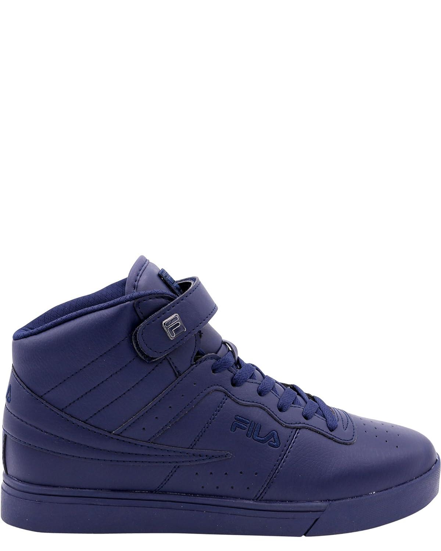 Fila Men's Vulc 13 Mid Cut Retro Sneaker, Triple Navy, 7