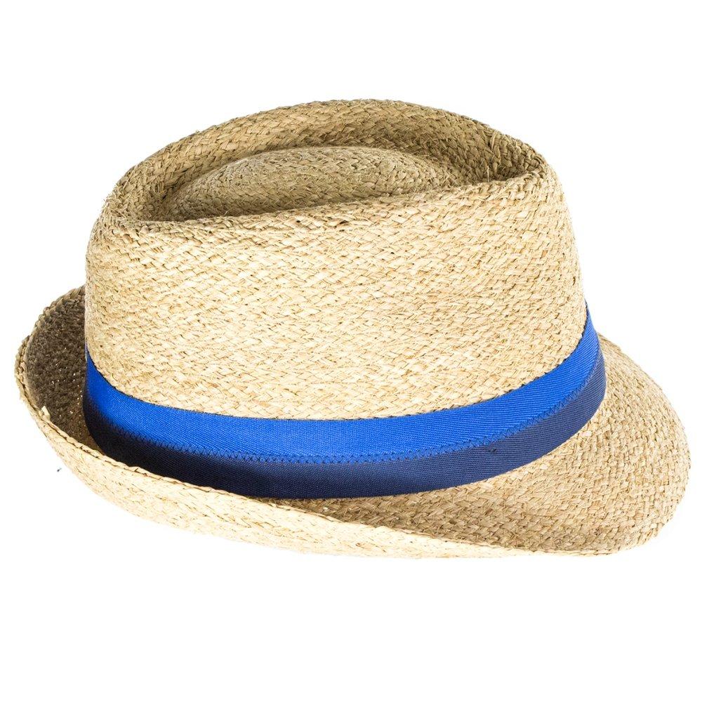 Stetson Hats Largo Raffia Straw Trilby Hat - Natural  Amazon.co.uk  Clothing b823723cb718