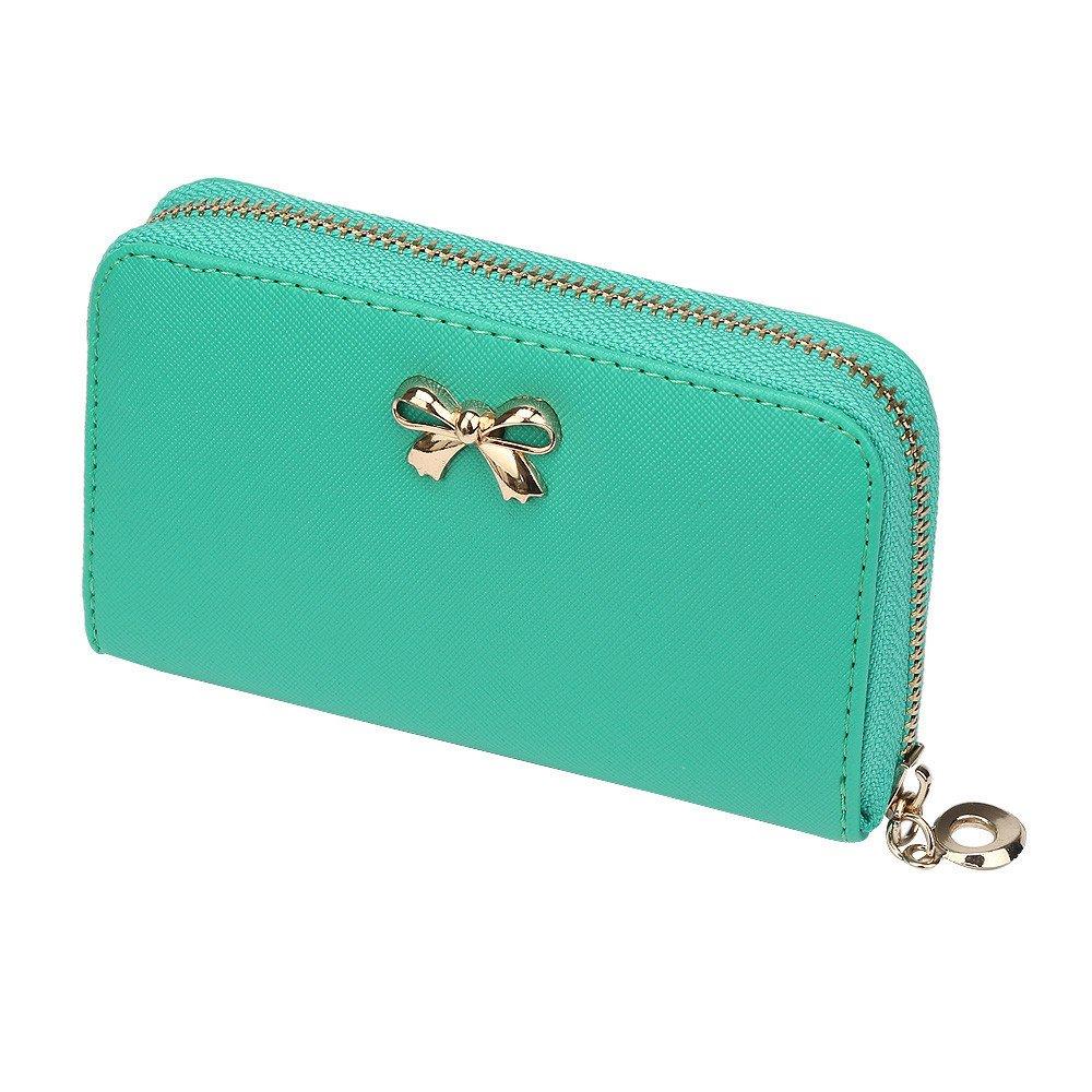 Susenstone® New Women Korean Cute Bowknot Purse Solid Wearable Wallet Handbag