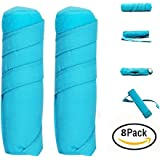 Sleep Hair Roller - 8 Pack Large 6 Inch Absorbent Heat Free Sleep Nighttime Styler Curlers, Curl Your Hair Without Damaging it, Includes Rollers for Long Thick or Curly Hair