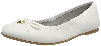 Damen 22110 Geschlossene Ballerinas, Weiß (White 100), 38 EU s.Oliver