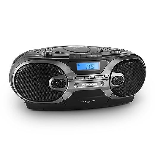 33 opinioni per auna RCD 230 stereo portatile radio boombox con lettore CD e mangianastri per